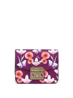 FURLA: borse a tracolla - Metropolis Mini farfalle e fiori