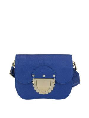 FURLA: borse a tracolla - Mini tracolla Ducale in pelle blu