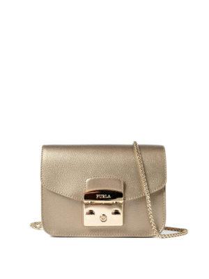 Furla: cross body bags - Metropolis bronze mini bag
