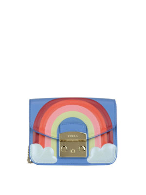 FURLA: borse a tracolla - Mini Metropolis Fantasia arcobaleno