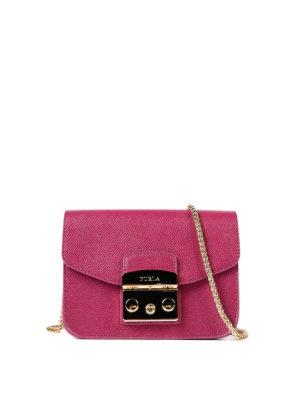 Furla: cross body bags - Metropolis fuchsia mini bag