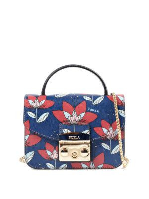 Furla: cross body bags - Metropolis mini gardenia print bag