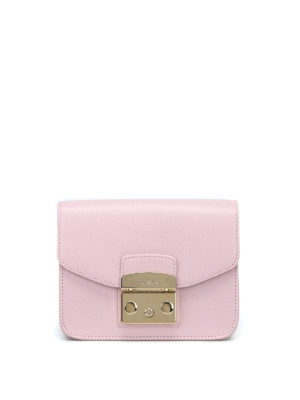 FURLA: borse a tracolla - Metropolis Mini in pelle rosa