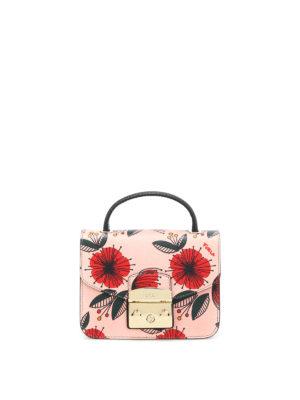 Furla: cross body bags - Metropolis mini poppy print bag