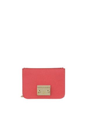 FURLA: borse a tracolla - Corpo borsa Metropolis Mini rosso