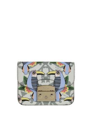 FURLA: borse a tracolla - Metropolis Mini con stampa tucani
