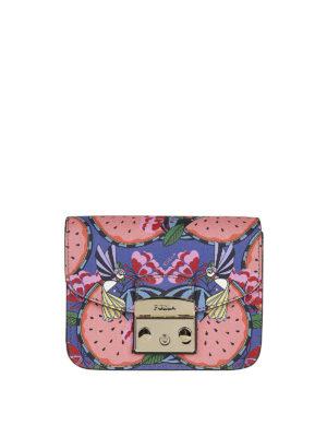 FURLA: borse a tracolla - Tracolla Metropolis mini stampata