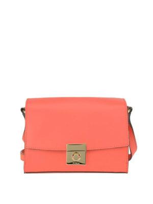 FURLA: borse a tracolla - Tracolla Milano S color mango