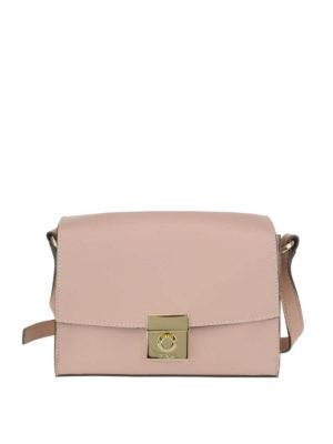 FURLA: borse a tracolla - Tracolla Milano S in pelle rosa