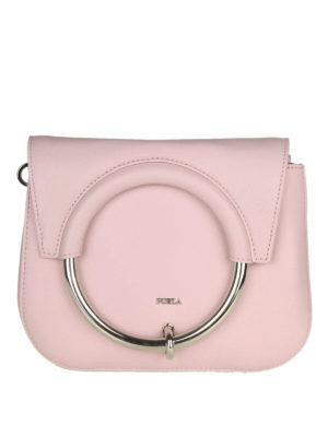 FURLA  borse a tracolla - Tracolla Margherita mini in pelle rosa a753a935e1974
