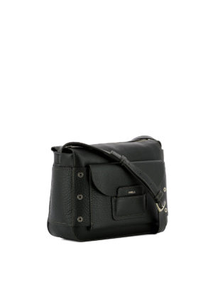 Furla: cross body bags online - Adele black leather crossbody bag