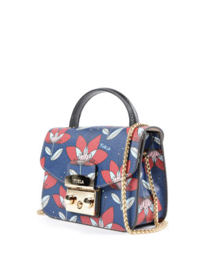 Furla: cross body bags online - Metropolis mini gardenia print bag
