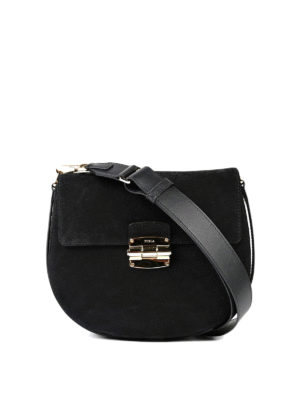Furla: cross body bags - Suede and leather Club crossbody
