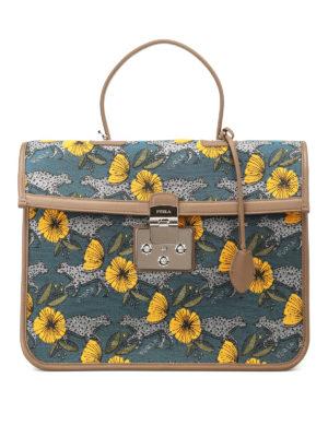 FURLA: borse da ufficio - Cartella Fenice in tessuto jacquard
