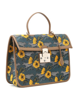 Furla: laptop bags & briefcases online - Fenice jacquard large handbag