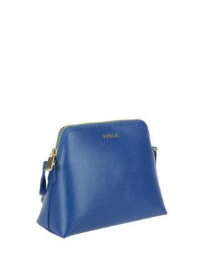 FURLA: borse a tracolla online - Tracolla Boheme XL blu pavone