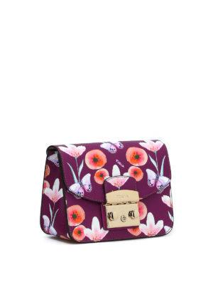FURLA: borse a tracolla online - Metropolis Mini farfalle e fiori