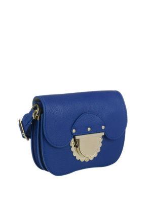 FURLA: borse a tracolla online - Mini tracolla Ducale in pelle blu