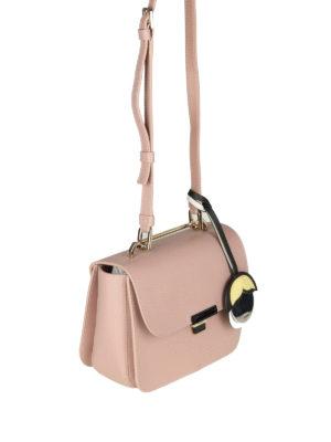 FURLA: borse a tracolla online - Elisir Mini in pelle resinata rosa