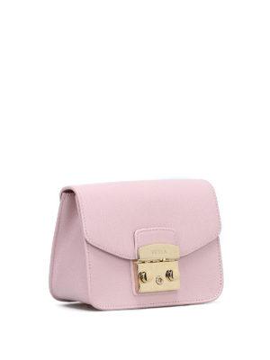FURLA: borse a tracolla online - Metropolis Mini in pelle rosa