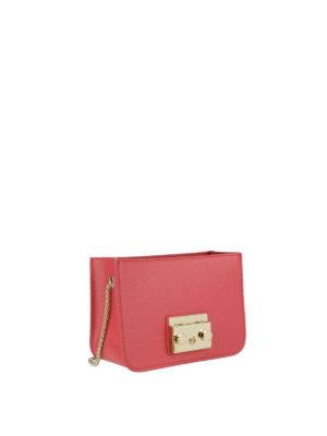 FURLA: borse a tracolla online - Corpo borsa Metropolis Mini rosso