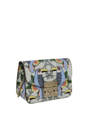 FURLA: borse a tracolla online - Metropolis Mini con stampa tucani