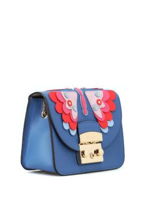FURLA: borse a tracolla online - Mini borsa Metropolis Papillon color genziana