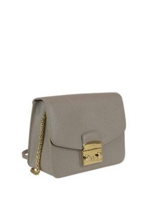 FURLA: borse a tracolla online - Tracolla color sabbia Metropolis S