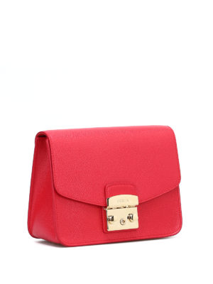 FURLA: borse a tracolla online - Metropolis S in pelle rossa