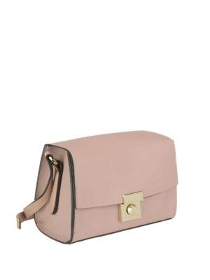 FURLA: borse a tracolla online - Tracolla Milano S in pelle rosa