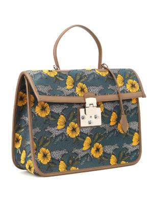 FURLA: borse da ufficio online - Cartella Fenice in tessuto jacquard