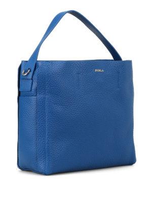 FURLA: borse a spalla online - Borsa hobo blu Capriccio M