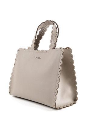 FURLA: shopper online - Piccola shopper sabbia Merletto