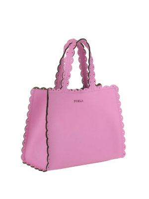 FURLA: shopper online - Piccola shopper rosa Merletto