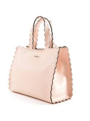FURLA: shopper online - Piccola shopper Merletto magnolia