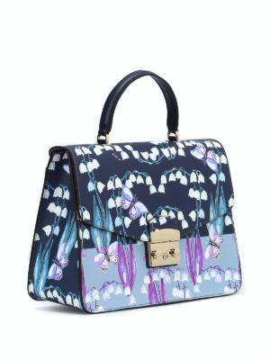 FURLA: shopper online - Metropolis M con stampa floreale