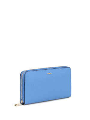 FURLA: portafogli online - Portafoglio blu Babylon XL