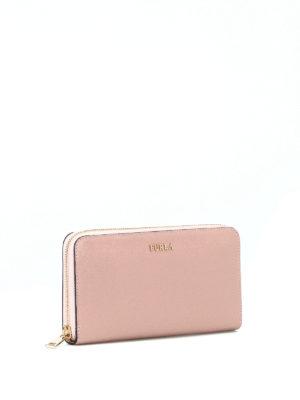 FURLA: portafogli online - Portafoglio Babylon XL rosa cipria