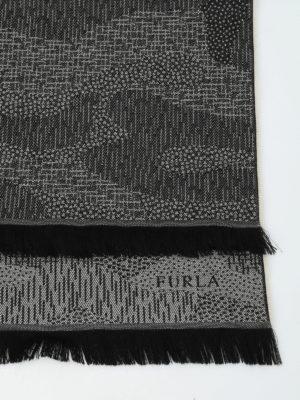 Furla: scarves online - Wool jacquard scarf