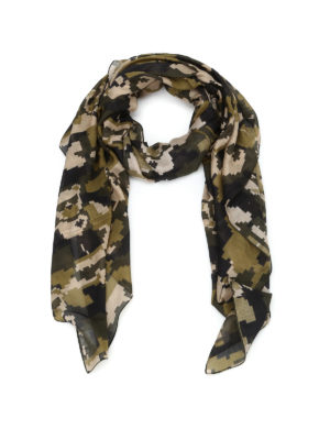 Furla: scarves - Printed silk blend foulard