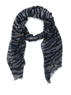 Furla: scarves - Wavy printed silk blend scarf