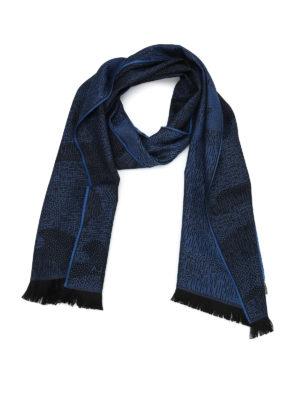 Furla: scarves - Wool jacquard scarf