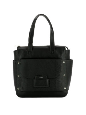 Furla: shoulder bags - Adele black leather small bag