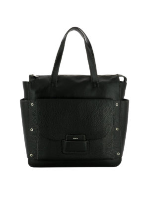 Furla: shoulder bags - Adele black leather square bag