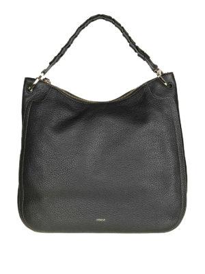 FURLA: borse a spalla - Borsa a spalla in pelle nera Rialto XL