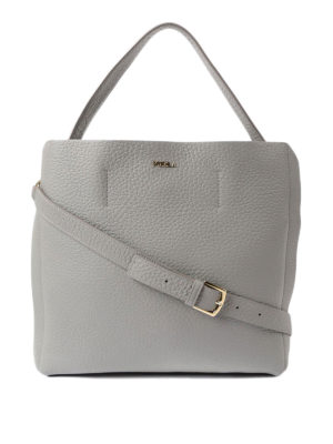 Furla: shoulder bags - Capriccio light grey medium bag