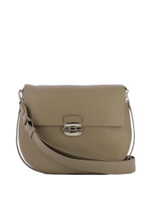 Furla: shoulder bags - Club beige leather shoulder bag