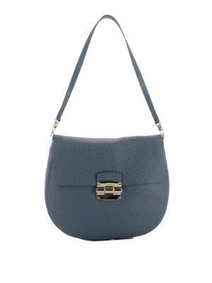 Furla: shoulder bags - Club grainy leather saddle bag