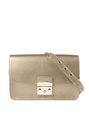 Furla: shoulder bags - Metropolis bronze small bag