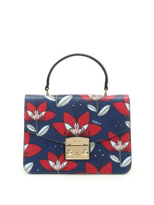 Furla: shoulder bags - Metropolis gardenia patterned bag
